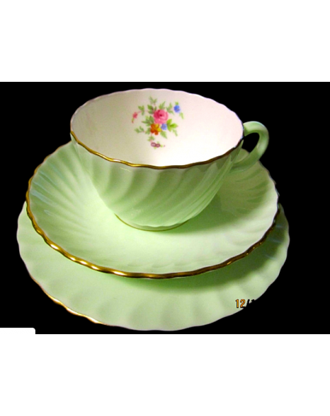 (OUT OF STOCK) MINTON FLUTED TEA TRIO